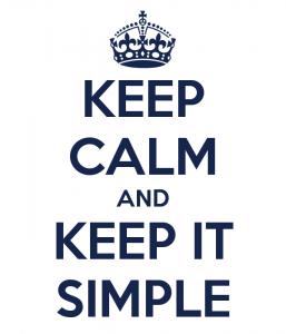 Succes bereiken - Hou het simpel