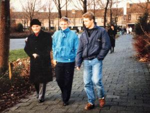 Martijn Meima met vader en opa